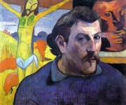Autoportrait au Christ jaune, par Paul Gauguin